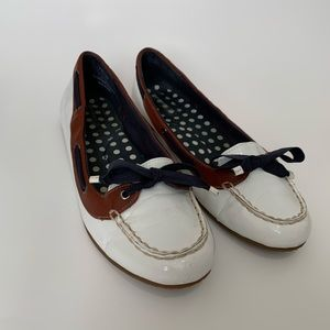 Sperry Top-Sider Chandler White Patent Boat Shoe